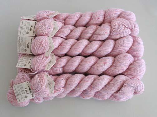 Details about ROWAN Rowanspun 4 ply Wool Yarn Sugar - 6 skeins