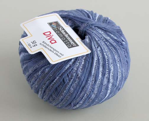 Ribbon Yarn : Details about Schachenmayr Diva Novelty Ribbon Yarn Lavender / Blue